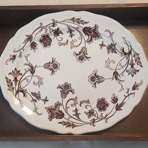 Ironstone Windsong Transferware Platter